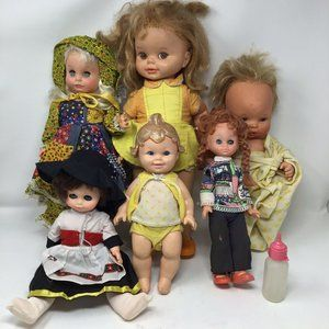 Vintage 1970's Creepy Scary Baby Doll Lot of 6